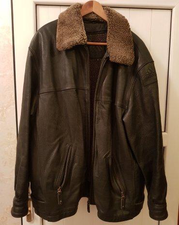 """куртка кожаная мужская """"Adidas"""" Германия, размер 52, подкладка и ворот в Бишкек"""
