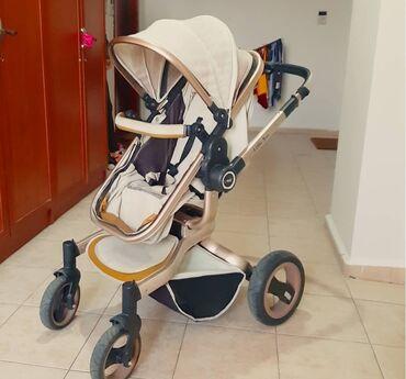 детская коляска - Azərbaycan: 1ildir alınıb,0-3yaşdır.maximum 25kq- a qeder ağırlıq daşıya