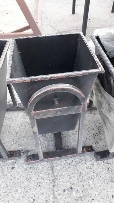 Bağ və bostan üçün digər əşyalar - Tovuz: Demir zibil qutusu, 75m,muxtelif modellerde vip zibil qutusu, anbardan