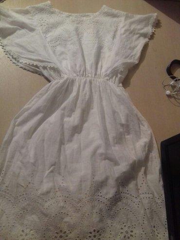 белое летнее платье в Кыргызстан: Лёгкий летний сарафан белого цвета, сморится очень нежноталия