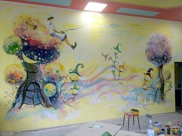 профессиональные  услуги художника по росписи стен и потолков а так же в Бишкек