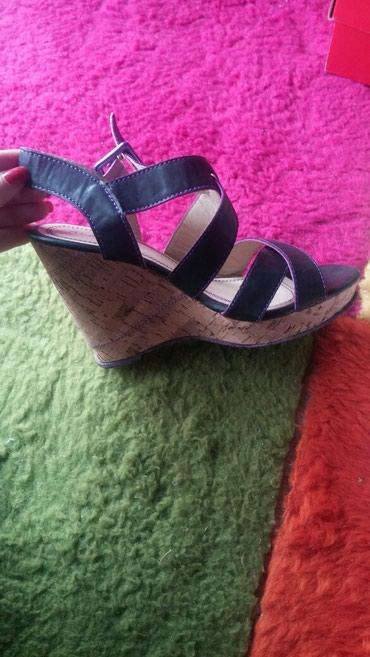 Crne sandalice, jednom nosene.  Prelepe. broj 39 - Zajecar