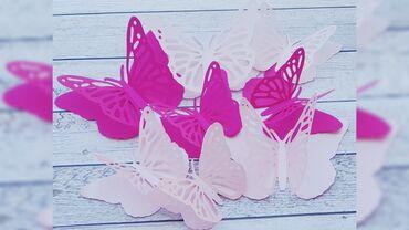 декор бишкек цены в Кыргызстан: Бабочки. Декор . Декор из бумаги. Бумажные цветы. Бумажные бабочки