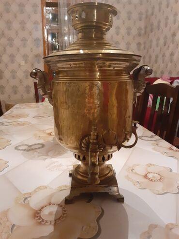 Qedimi mis samovar,1899 cu ilde istehsal olunub,üzerinde 16 eded möhur