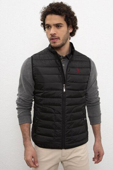 Us Polo жилетка чёрный цвет, качество супер, новая внутренний карм