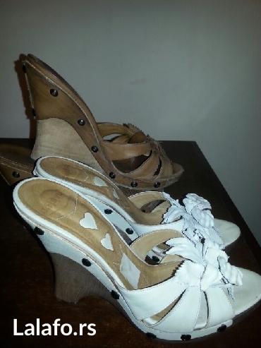 Akcija-prodaju se dva para italijanskih koznih papuca sa platformom - Crvenka