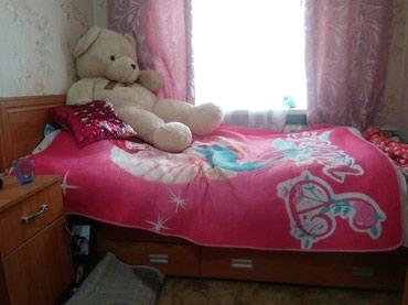 Кровать , односпальная 2 выдвежных бельевых шкафа состояние отличное в Кант