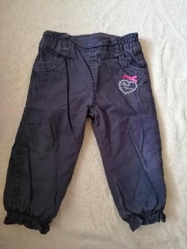 Pantalone c aelastin pamuk - Srbija: C&A termo pantalone za devojcice, cena 500