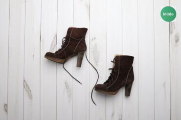 Женская обувь - Украина: Чоботи коричневі жіночі р.37    Висота каблука: 10 см Висота платформи