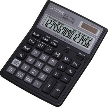 Калькулятор.Калькулятор Citizen SDC-395 N в пластиковом корпусе с