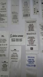 этикетка для одежды в Кыргызстан: Ярлык для одежды с описанием. Состав одежды. Этикетки пришивные на