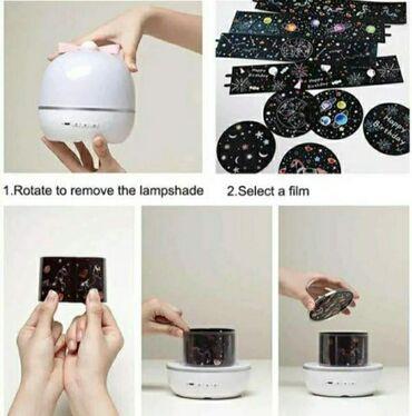 Projektor i lampa. Odlična zanimacija za mališane. Projektor ima dva