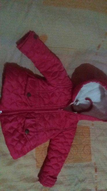 Decija jakna, pink boja, punjena, sa kapuljacom, kao nova, velicina - Indija