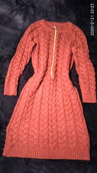 вязаное платье большого размера в Кыргызстан: Вязаное красное платье! Размер стандарт. Состояние идеальное. Надето