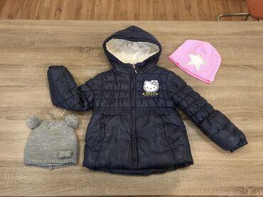 HELLO KITY Vel.116 topla jakna za devojcice. Mere su prikazane na