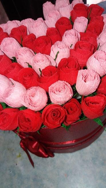 Цветы из бумаги.Примаю заказ 8Марта , С днём рождения и другие. в Бишкек