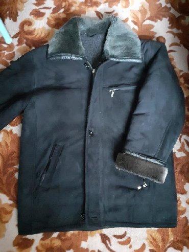 черная длинная футболка мужская в Кыргызстан: Мужская дублёнка, 48 размер. Состояние нового