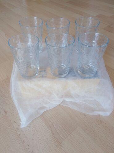 Set novih čaša uvoz. 6 komada za 300. Slanje postekspresom
