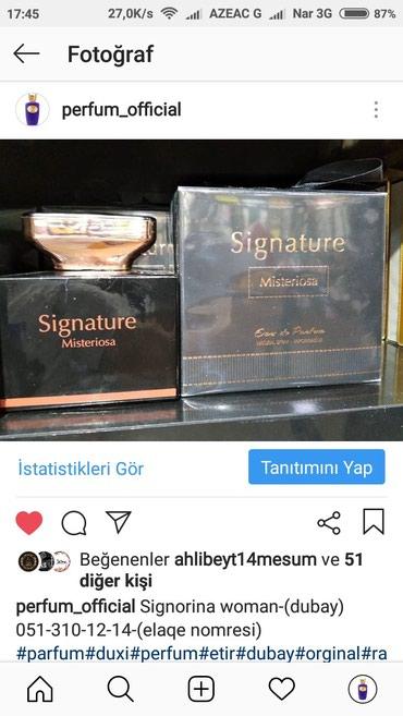 Xırdalan şəhərində Signorina etir perfum official