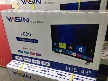 Телевизоры в Лебединовка: Телевизор YASIN 43 e6000 smart Гарантия 3 года Доставка есть по городу