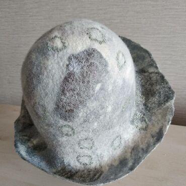 Тончайшего войлока панама. Шляпка для лета. Размер 58-60. Экологичная