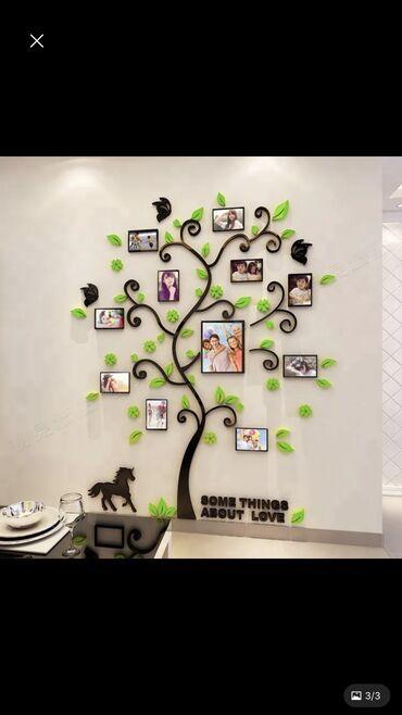 Акриловый глянцевый 3D декор на стену размер 382см на 200см, высшее