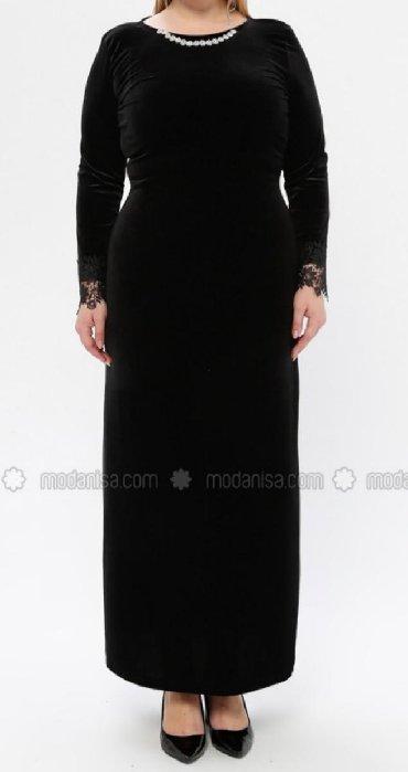 льняные вязаные платья в Кыргызстан: Платье вечернее шикарное велюровое большого размера Турция размер на 5