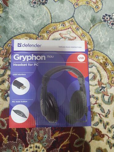 g динамики в Кыргызстан: Наушники с микрофоном Gryphon 750u Хороший микрофон с отличной