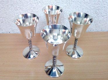 Alfa-romeo-spider-2-4-td - Srbija: Lux 4 POSREBRENE čaše za žestoka pića Luxuzne Posrebrne čaše za
