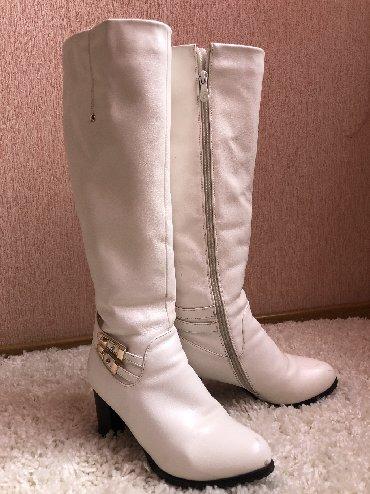 Продаю белые сапоги на зиму, отличное качество Торг уместен!!! Размер