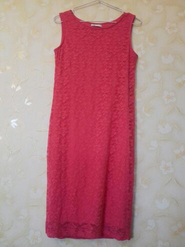 sumku oodji в Кыргызстан: Продается гипюровое малиновое платье размер М