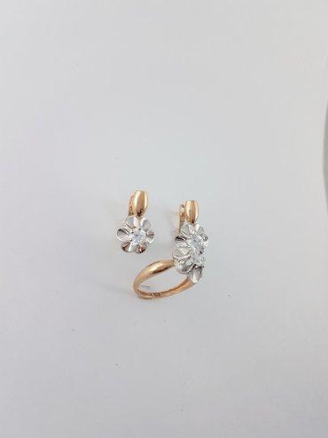 Комплект из красного золота 585 проба. размер кольца 17. 0 в Бишкек