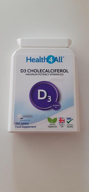 Vitamin D - 360 kom. direktno iz Engleske kutija vitamina D sa 360