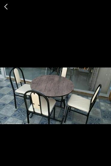 yeni stol stul modelleri в Азербайджан: Teze stol destiacilib yiğilan model,diametri 80stullain reng