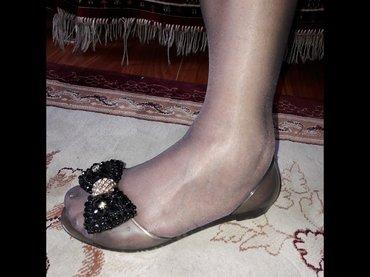 Б/у Женские геливые балетки, размер 36. в Бишкек