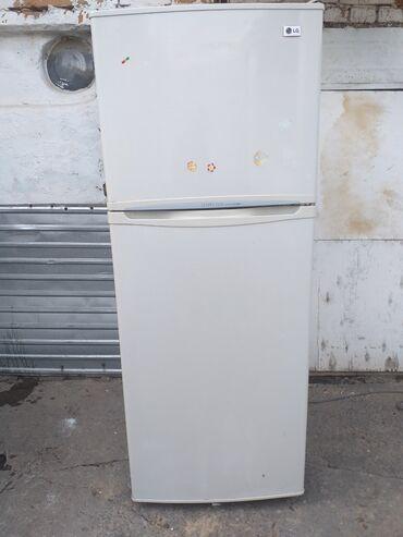 Электроника - Заря: Б/у Двухкамерный   Белый холодильник LG