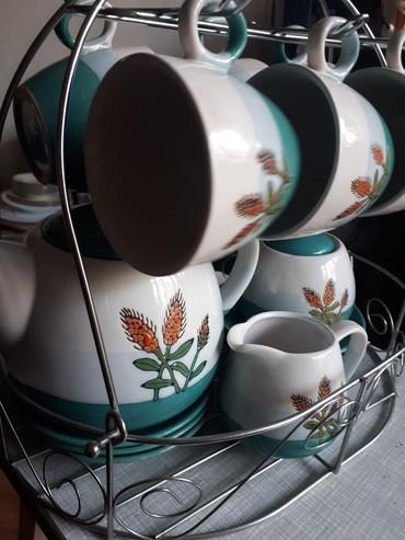 fuzhery-6-sht в Кыргызстан: Чайный сервиз на 6 персон. 6 чашек, 6 блюдец, чайник, сахарница