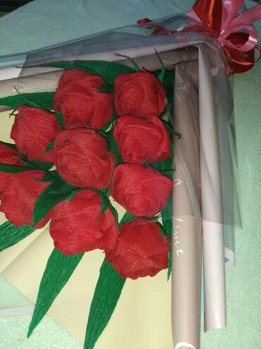 Цветы из гофрированный бумаги