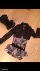 Ženska odeća | Palic: Komplet m velicine,haljina i kozna jakna! Novo!