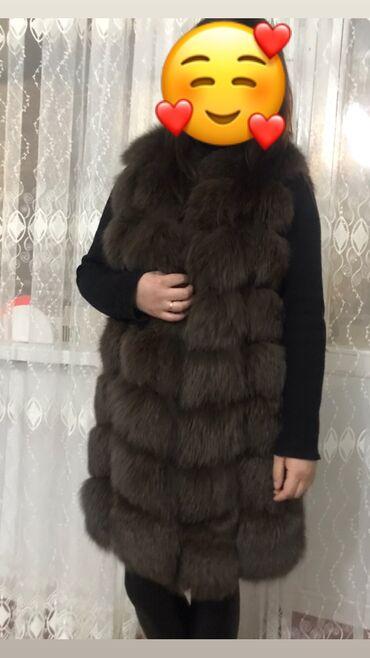 меховые пинетки в Кыргызстан: Срочно! Продаётся меховая жилетка, Lux мех, писец. Длина 90см. Состоян
