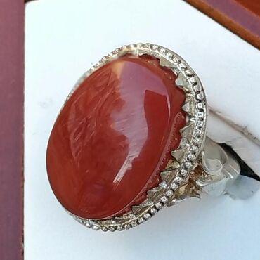 Qaşı Yəmən əqiqi olan gümüş üzük satılır. qiyməti: 150 manat