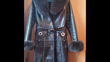 Продам женское пальто с мехом и подстежкой (осень-зима) размер