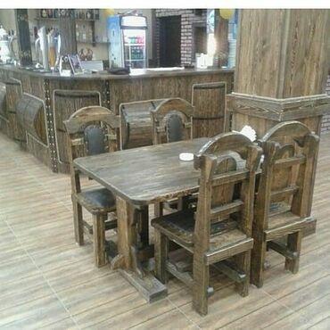 kafe üçün mebel - Azərbaycan: Restoranlar ucun masa ve oturacaqlar Bag evleri ucun divan