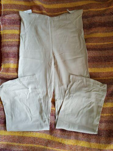 Lanene pantalone za trudnice S. Besprekorno stanje. Podešava se u