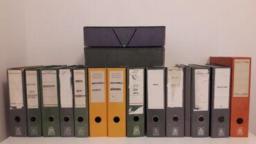 14 ντοσιέ και 2 κουτιά αποθήκευσης με λάστιχο ( χρησιμοποιημένα )Με τα