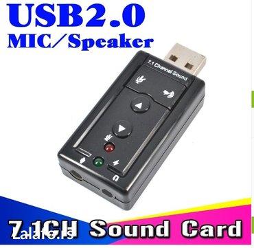 Eksterna USB VIRTUAL 7.1 3D Zvučna kartica - Uzice