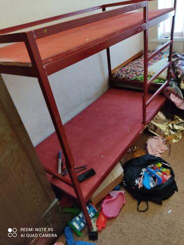двухъярусные кровати бу в Кыргызстан: КроватьКровать детскаяДвухярусная. Продаю 2х ярусную кровать