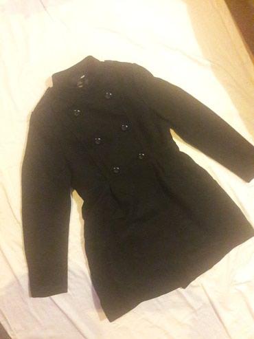 Crni kaput - Srbija: H&M crni kapit vel. 42 - kao nov