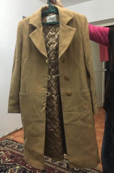 женские кофты из кашемира в Кыргызстан: Женское зимнее пальто ткань кашемир б/у в хорошем состоянии,46-48
