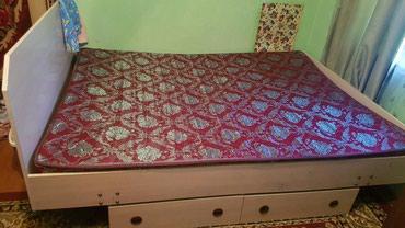 Двухспальная кровать с 2мя выдвижными в Бишкек